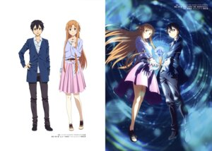 Rating: Safe Score: 31 Tags: asuna_(sword_art_online) kirito suzuki_gou sword_art_online User: drop