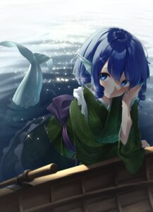 Rating: Safe Score: 13 Tags: kanpa_(campagne_9) maid mermaid monster_girl tail touhou wa_maid wakasagihime wet User: Mr_GT