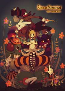 Rating: Safe Score: 17 Tags: alice alice_in_wonderland caterpillar_(wonderland) cheshire_cat lolita_fashion mad_hatter shoku thighhighs white_rabbit User: charunetra