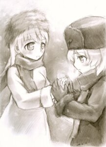 Rating: Safe Score: 11 Tags: eila_ilmatar_juutilainen kisetsu monochrome sanya_v_litvyak sketch strike_witches User: charunetra