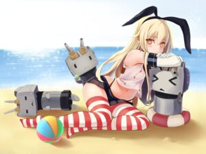 Rating: Questionable Score: 56 Tags: isamu_futoshi kantai_collection rensouhou-chan shimakaze_(kancolle) signed thighhighs thong User: gnarf1975