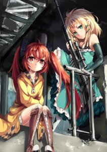 Rating: Safe Score: 60 Tags: aihara_enju black_bullet dress mixke tina_sprout weapon User: sylver650
