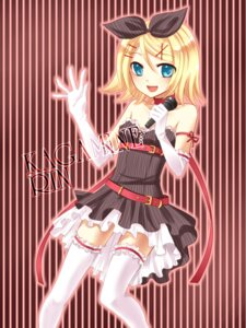 Rating: Safe Score: 23 Tags: dress kagamine_rin thighhighs vocaloid yayoi User: hobbito