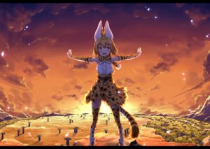 Rating: Safe Score: 33 Tags: animal_ears kemono_friends serval tail thighhighs ugume User: Mr_GT