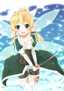 Rating: Safe Score: 24 Tags: alfheim_online cleavage garter kamisaki_sora leafa pointy_ears sword sword_art_online thighhighs wings User: fairyren