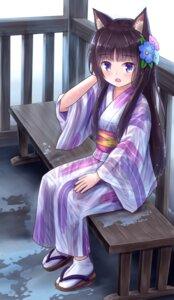 Rating: Questionable Score: 11 Tags: animal_ears iroha_(iroha_matsurika) kimono nekomimi wet wet_clothes User: ryoga828
