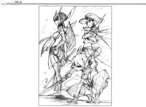 Rating: Safe Score: 8 Tags: ass heels kill_la_kill kiryuuin_satsuki matoi_ryuuko monochrome sketch sword tagme thighhighs User: Radioactive