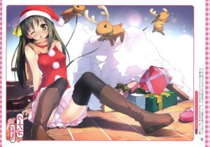 Rating: Questionable Score: 52 Tags: christmas kantoku pantsu thighhighs User: fireattack