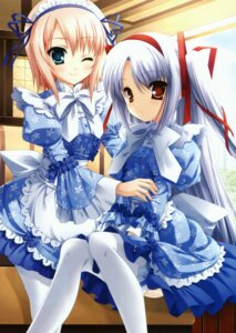 Rating: Safe Score: 77 Tags: 11eyes hagiwara_onsen lass maid momono_shiori narumi_yuu natsuki_kaori thighhighs User: syaoran-kun