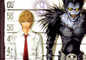 Rating: Safe Score: 9 Tags: death_note male obata_takeshi ryuk yagami_light User: Radioactive