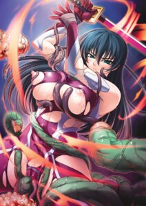 Rating: Questionable Score: 50 Tags: bodysuit breast_grab cameltoe fishnets igawa_asagi kagami lilith_soft ninja nipples sword taimanin_asagi tentacles torn_clothes wet User: limalama
