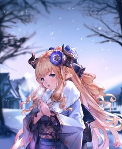 Rating: Safe Score: 21 Tags: granblue_fantasy horns kimono pointy_ears rastina supertie User: Mr_GT