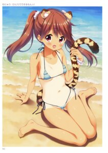 Rating: Questionable Score: 73 Tags: animal_ears bikini munyuu swimsuits tail tan_lines User: Twinsenzw