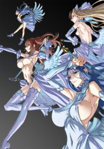Rating: Questionable Score: 74 Tags: dress honjou_raita kuramoto_erika mahou_shoujo_(raita) nipple_slip nipples nitta_yui pantsu sasaki_kotone suzuhara_misae thighhighs underboob weapon wings zettai_shoujo User: demonbane1349