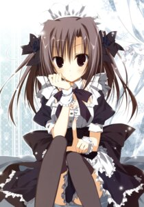 Rating: Questionable Score: 46 Tags: ebiten inugami_kira maid thighhighs todayama_izumiko User: crim