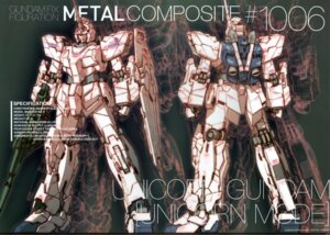 Rating: Safe Score: 12 Tags: crease gundam gundam_unicorn katoki_hajime mecha unicorn_gundam User: Rid