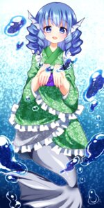 Rating: Safe Score: 10 Tags: chako_(chakoxxx) maid mermaid monster_girl tail touhou wa_maid wakasagihime User: charunetra