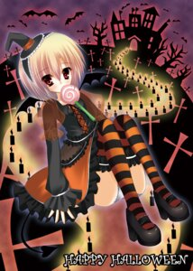 Rating: Safe Score: 12 Tags: dress halloween pantsu thighhighs wreathlit69 User: Riven