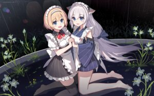 Rating: Safe Score: 31 Tags: animal_ears claxton_(zhanjianshaonv) maid thighhighs wa_maid yuri_shoutu z18_(zhanjianshaonv) zhanjianshaonv User: Mr_GT