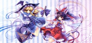 Rating: Safe Score: 15 Tags: capura.l eternal_phantasia fixed hakurei_reimu kirisame_marisa touhou User: sonicshadow