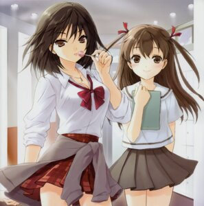 Rating: Safe Score: 60 Tags: bessho_koyoi cleavage cuteg hatsukoi_limited seifuku yamamoto_misaki User: MirrorMagpie