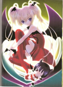 Rating: Safe Score: 11 Tags: hoshina_utau il lunatic_charm peach-pit shugo_chara thighhighs wings User: noirblack