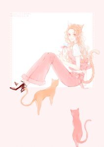 Rating: Safe Score: 9 Tags: animal_ears heels moss_(2225028) neko nekomimi tail User: charunetra