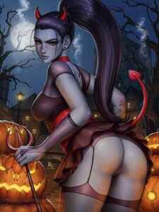 Rating: Explicit Score: 35 Tags: ass fishnets halloween horns mirco_cabbia nopan overwatch pussy stockings tail tattoo thighhighs uncensored weapon widowmaker User: Spidey