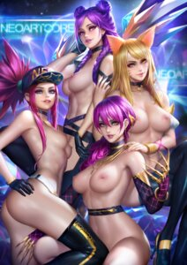 Rating: Questionable Score: 106 Tags: ahri akali animal_ears ass evelynn heels kai'sa league_of_legends naked nipples nudtawut_thongmai thighhighs User: BattlequeenYume