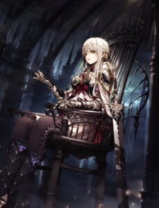 Rating: Safe Score: 72 Tags: armor cleavage heels sword thighhighs wanke User: mash