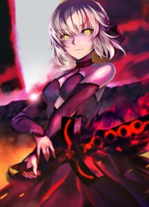 Rating: Safe Score: 24 Tags: cleavage dress ep_(emio_parn) fate/grand_order saber saber_alter sword User: Mr_GT