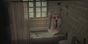 Rating: Safe Score: 31 Tags: bathing chihuri dress wet yuri User: Mr_GT