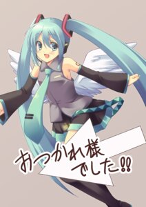 Rating: Safe Score: 10 Tags: hatsune_miku nanashi_(soregashi) thighhighs vocaloid wings User: fairyren