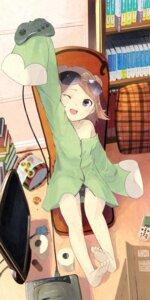 Rating: Questionable Score: 43 Tags: feet itsutsuse loli megane pantsu User: KazukiNanako
