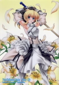 Rating: Safe Score: 46 Tags: armor dress fate/stay_night fate/unlimited_codes happy_birthday maruchan saber saber_lily sword User: admin2