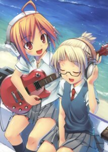 Rating: Safe Score: 24 Tags: guitar headphones hiiro_yuki megane seifuku User: suika123