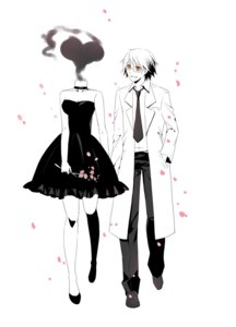 Rating: Safe Score: 9 Tags: celty_sturluson dress durarara!! kishitani_shinra monochrome tagme User: Radioactive