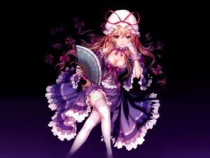 Rating: Safe Score: 84 Tags: an2a cleavage dress lolita_fashion thighhighs touhou yakumo_yukari User: itsu-chan