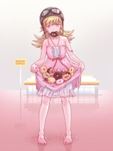 Rating: Safe Score: 31 Tags: bakemonogatari dress oshino_shinobu see_through skirt_lift summer_dress wet yoshikawa_kazunori User: animeprincess