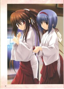 Rating: Safe Score: 8 Tags: key little_busters! miko na-ga natsume_rin nishizono_mio screening User: Davison