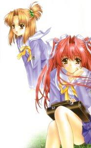 Rating: Safe Score: 6 Tags: kimizuka_aoi seifuku shimbashi_mina shimbashi_rina suki_da_yo! User: Davison