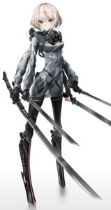 Rating: Safe Score: 25 Tags: bodysuit mecha_musume sword tagme User: Radioactive