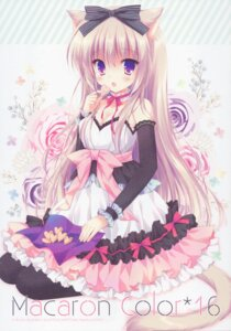 Rating: Safe Score: 80 Tags: animal_ears cascade cleavage dress hasekura_chiaki nekomimi paper_texture tail User: yong