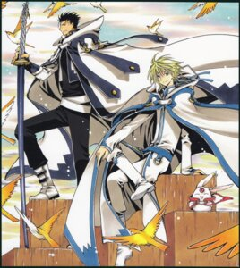 Rating: Safe Score: 4 Tags: clamp fai_d._flourite kurogane male mokona tsubasa_reservoir_chronicle User: LulukoVladmont