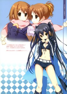 Rating: Safe Score: 40 Tags: bikini_top black_rock_shooter cleavage cosplay dmyo hirasawa_ui hirasawa_yui k-on! nakano_azusa snow_ring vocaloid User: fireattack