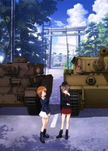 Rating: Safe Score: 25 Tags: girls_und_panzer landscape nishizumi_maho nishizumi_miho seifuku uniform User: drop