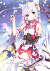 Rating: Safe Score: 42 Tags: animal_ears hoshi_no_yurara thighhighs User: Mr_GT