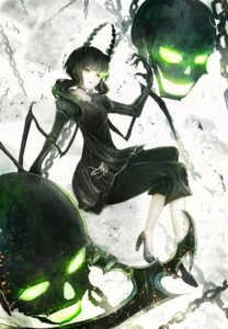Rating: Safe Score: 43 Tags: black_rock_shooter dead_master dress heels horns marumoru vocaloid weapon wings User: zero|fade