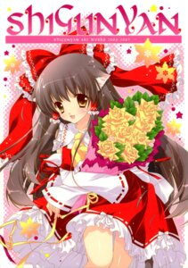 Rating: Safe Score: 24 Tags: animal_ears hakurei_reimu miko nekomimi shigunyan touhou User: midzki