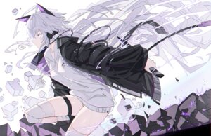 Rating: Safe Score: 36 Tags: animal_ears bandages garter headphones verslll User: BattlequeenYume